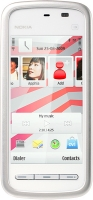 NOKIA  5230 White red navi