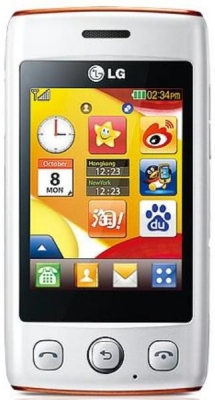 LG T300 White orange