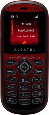 Alcatel OT-209 Black Red